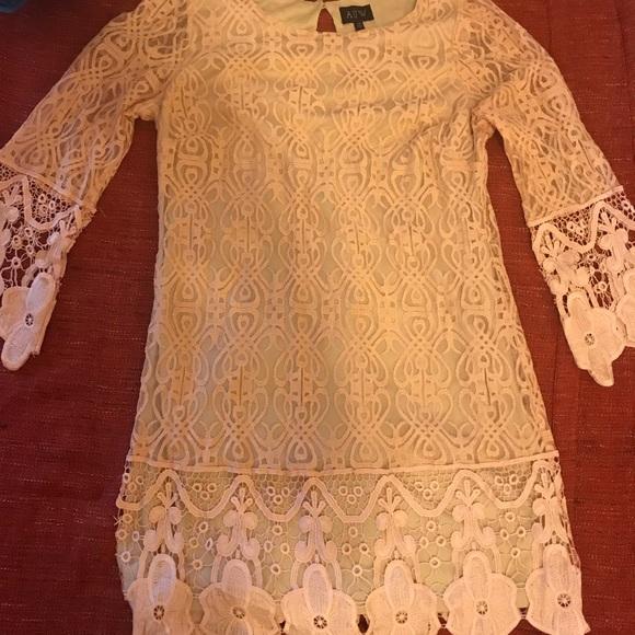 Great PLUS size Easter dress ⭐️Peach lace dress